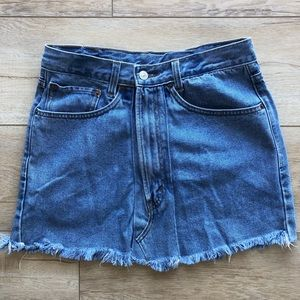 Vintage denim Levi's skirt